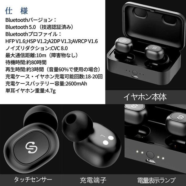 正規代理店 SoundPEATS サウンドピーツ Q32 Bluetooth イヤホン TWS Bluetooth 5.0 完全ワイヤレスイヤホン|makanainc|06