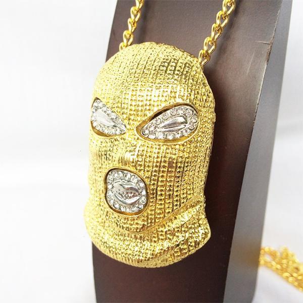 88b1cdc1a365ab マスク マスクマン 覆面レスラー プロレス ジルコニア GOLD ゴールド 金 ネックレス ヒップホップ HIPHOP 1291