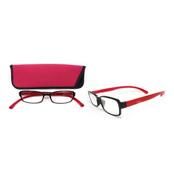老眼鏡 ネックリーダー G082-01 レッド