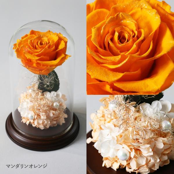 プリザーブドフラワー クリスマス 花 プレゼント プロポーズ ガラスドーム 薔薇 Princess Fleur|makefuture|09