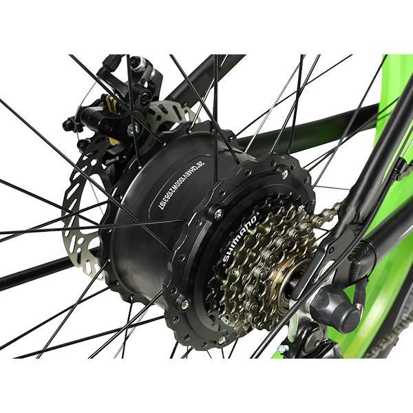 送料無料税込みハチコHACHIKO 27.5インチマウンテンバイクSHIMANO 24級 変速 前後ディスクブレーキ装着 軽量アルミ フレーム 黒 MountainBike-Black|makitaqueenshopp|07