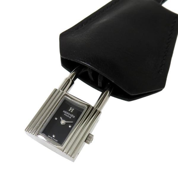 HERMES/エルメスケリー・クロシェットKE1.210時計/ウォッチその他小物ステンレススチールブラック文字盤レディース