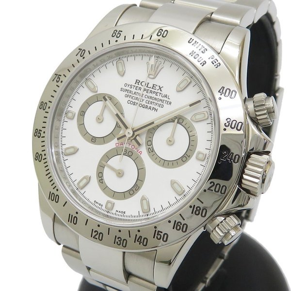 ROLEX/ロレックスデイトナ116520腕時計ステンレススチール自動巻き/オートマV番(2009年頃)ホワイト文字盤メンズ