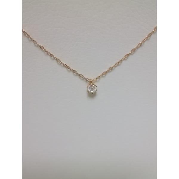 ダイヤモンドプチネックレス 星の砂ブティックK18ピンクゴールド 定価87000円 送料無料