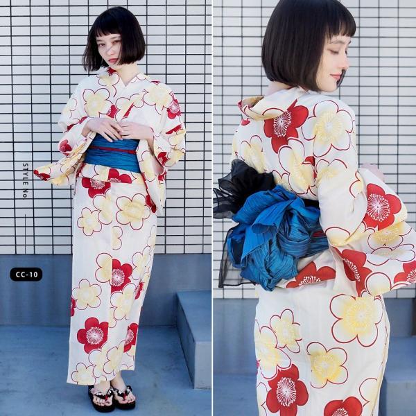 浴衣 セット 2点 レディース ゆかた 大人 大きいサイズ 小さいサイズ Sサイズ フリーサイズ TL WL ぽっちゃり ワイド|makoto1007|15