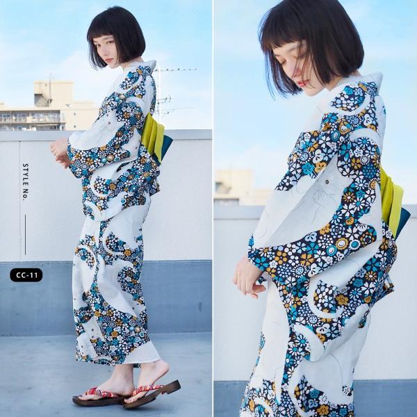 浴衣 セット 2点 レディース ゆかた 大人 大きいサイズ 小さいサイズ Sサイズ フリーサイズ TL WL ぽっちゃり ワイド|makoto1007|16