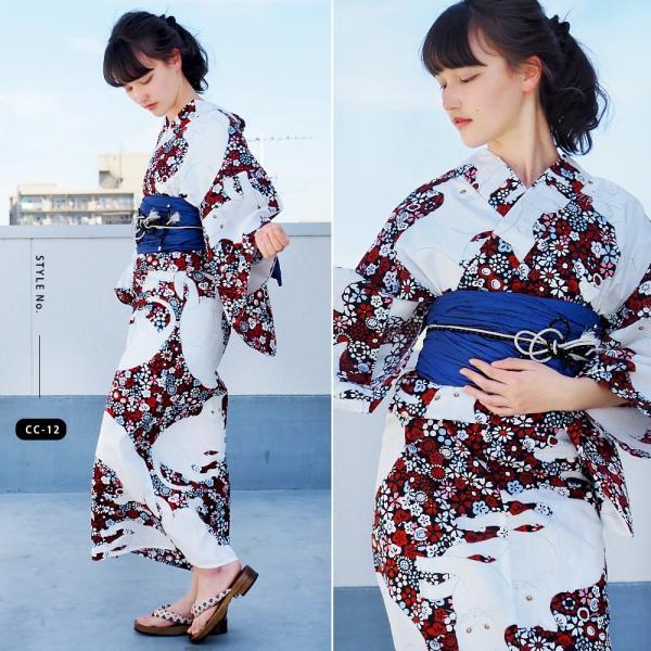 浴衣 セット 2点 レディース ゆかた 大人 大きいサイズ 小さいサイズ Sサイズ フリーサイズ TL WL ぽっちゃり ワイド|makoto1007|17