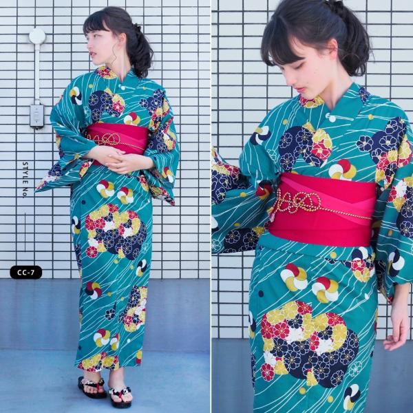 浴衣 セット 2点 レディース ゆかた 大人 大きいサイズ 小さいサイズ Sサイズ フリーサイズ TL WL ぽっちゃり ワイド|makoto1007|12