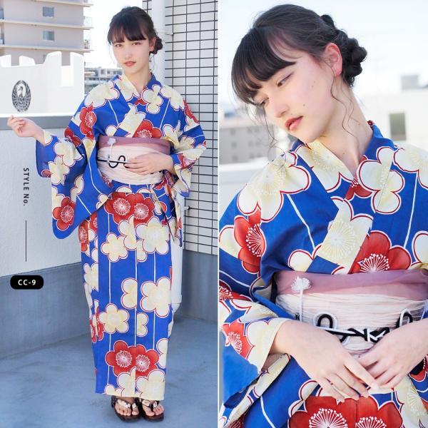 浴衣 セット 2点 レディース ゆかた 大人 大きいサイズ 小さいサイズ Sサイズ フリーサイズ TL WL ぽっちゃり ワイド|makoto1007|14