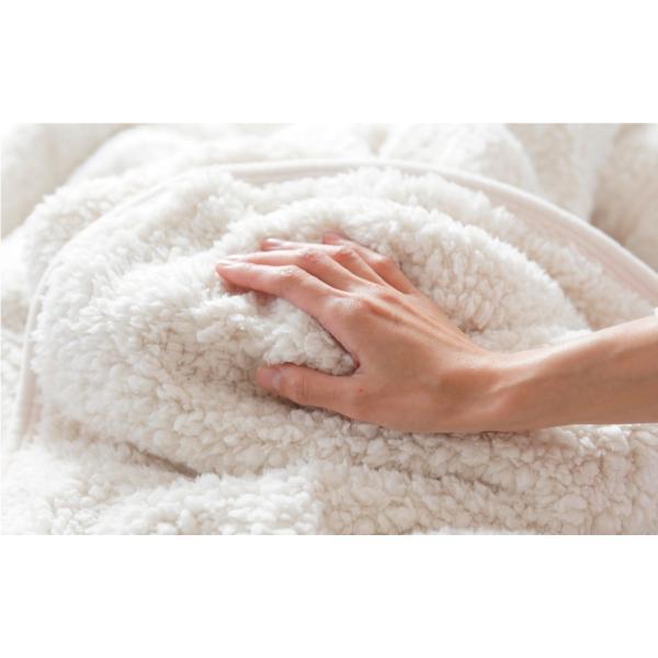 毛布 暖かい シングル 2枚合わせ もこもこ毛布 シープ 140×200|makura|09