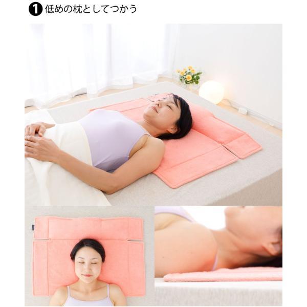 枕を使わない人の枕 パイル&ガーゼ タイプ70 頸椎支持型 約 70×47センチ|makura|03