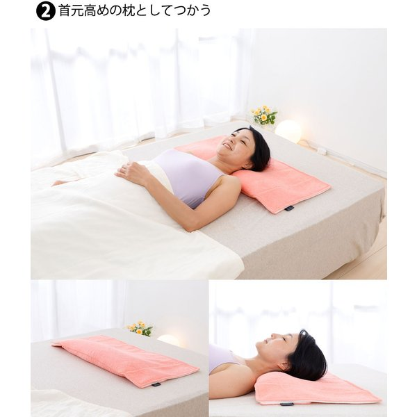 枕を使わない人の枕 パイル&ガーゼ タイプ70 頸椎支持型 約 70×47センチ|makura|04
