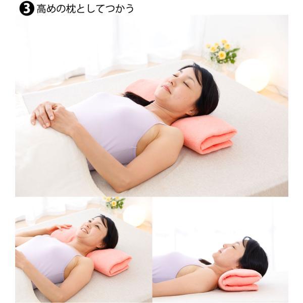 枕を使わない人の枕 パイル&ガーゼ タイプ70 頸椎支持型 約 70×47センチ|makura|05