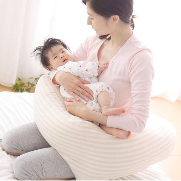 授乳クッション 抱き枕 日本製 ECOレシピ♪ オーガニックコットン ダブルガーゼ マルチピロー 妊娠中 妊婦 マタニティ ギフトラッピング無料|makura|02