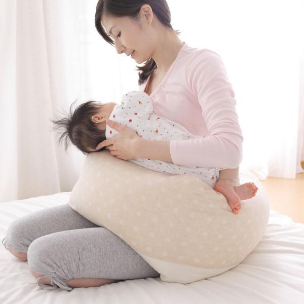 授乳クッション 抱き枕 日本製 ECOレシピ♪ オーガニックコットン ダブルガーゼ マルチピロー 妊娠中 妊婦 マタニティ ギフトラッピング無料|makura|03