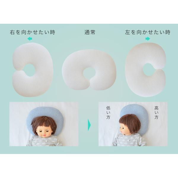 ドーナツ枕 ベビー枕 ザ・ピロー ベビー   向き癖 絶壁 寝ハゲ対策 洗える オーガニック 出産祝い5色から選べるかわいいベビー枕|makura|11