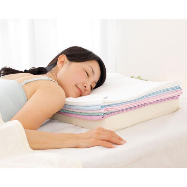 今治バスタオルピロー バスタオル5枚+専用ピローベース 今治産のバスタオルを使用したタオル好きのための枕 makura 02