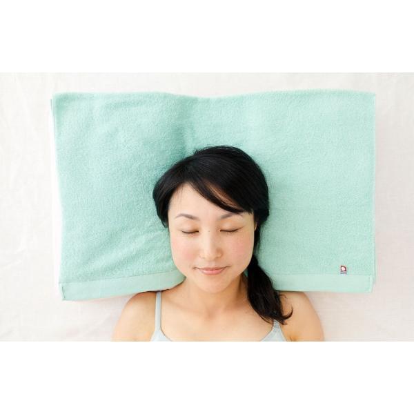 今治バスタオルピロー バスタオル5枚+専用ピローベース 今治産のバスタオルを使用したタオル好きのための枕 makura 14