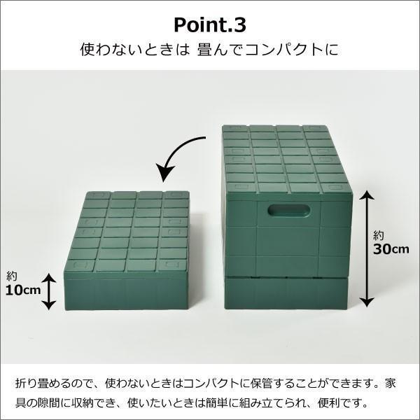 収納ボックス 収納ケース フタ付き おしゃれ 屋外 プラスチック アイデア コンテナボックス アウトドア用品 本収納 書類整理ケース ( グリッドコンテナー )|mamachi|11