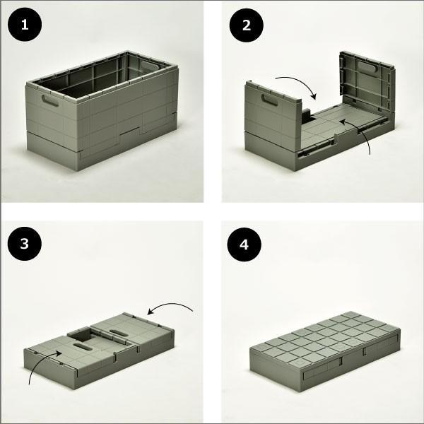 収納ボックス 収納ケース フタ付き おしゃれ 屋外 プラスチック アイデア コンテナボックス アウトドア用品 本収納 書類整理ケース ( グリッドコンテナー )|mamachi|12
