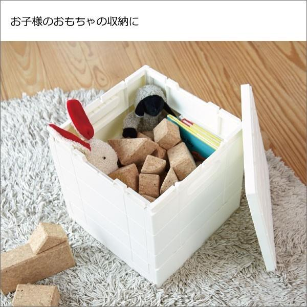 収納ボックス 収納ケース フタ付き おしゃれ 屋外 プラスチック アイデア コンテナボックス アウトドア用品 本収納 書類整理ケース ( グリッドコンテナー )|mamachi|04