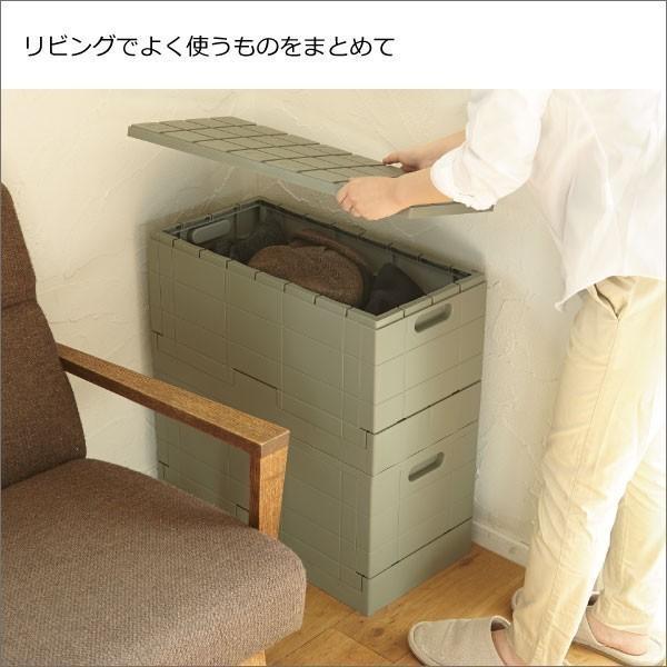 収納ボックス 収納ケース フタ付き おしゃれ 屋外 プラスチック アイデア コンテナボックス アウトドア用品 本収納 書類整理ケース ( グリッドコンテナー )|mamachi|05