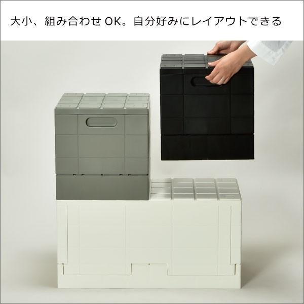 収納ボックス 収納ケース フタ付き おしゃれ 屋外 プラスチック アイデア コンテナボックス アウトドア用品 本収納 書類整理ケース ( グリッドコンテナー )|mamachi|07