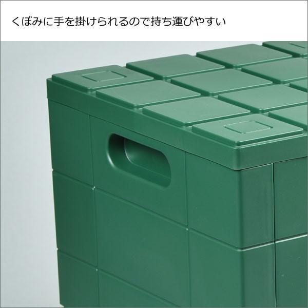 収納ボックス 収納ケース フタ付き おしゃれ 屋外 プラスチック アイデア コンテナボックス アウトドア用品 本収納 書類整理ケース ( グリッドコンテナー )|mamachi|09