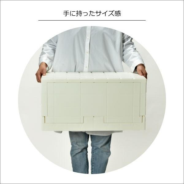 収納ボックス 収納ケース フタ付き おしゃれ 屋外 プラスチック アイデア コンテナボックス アウトドア用品 本収納 書類整理ケース ( グリッドコンテナー )|mamachi|10