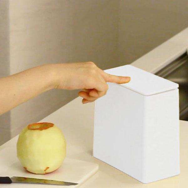 ゴミ箱 おしゃれ キッチン用 スリム リビング用 蓋付き フタ付き ダストボックス ごみ箱 トイレ用 生ゴミ ( ideaco TUBELOR mini flap チューブラー )|mamachi|02