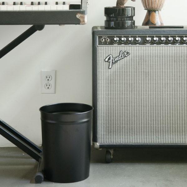 ゴミ箱 おしゃれ キッチン用 スリム リビング用 ダストボックス 丸型 ごみ箱 トイレ用 日本製 スチール製 ( ぶんぶく テーパーバケット 小 )|mamachi|15