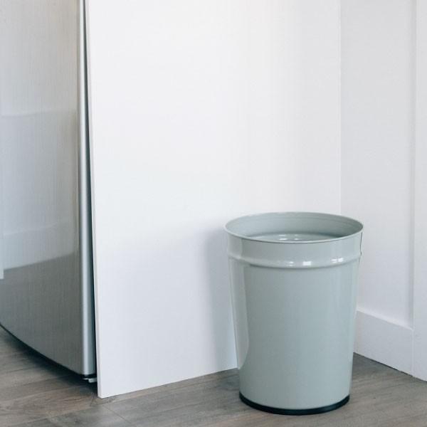 ゴミ箱 おしゃれ キッチン用 スリム リビング用 ダストボックス 丸型 ごみ箱 トイレ用 日本製 スチール製 ( ぶんぶく テーパーバケット 小 )|mamachi|07