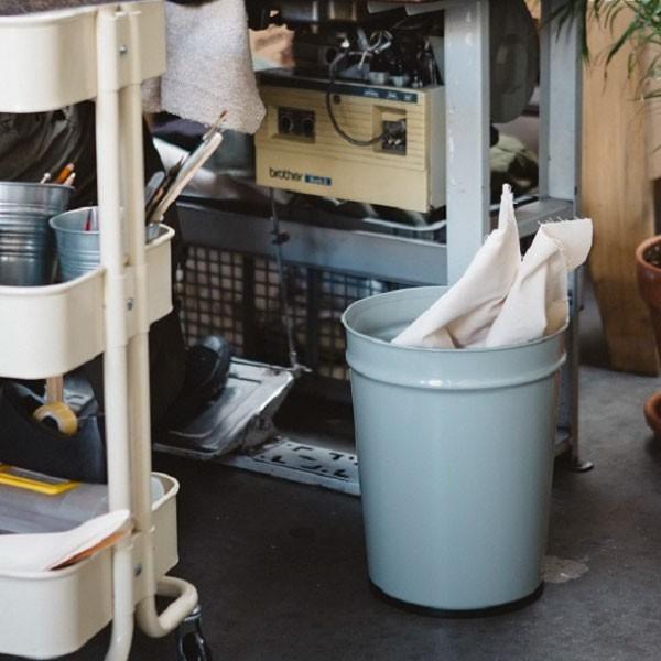 ゴミ箱 おしゃれ キッチン用 スリム リビング用 ダストボックス 丸型 ごみ箱 トイレ用 日本製 スチール製 ( ぶんぶく テーパーバケット 小 )|mamachi|10