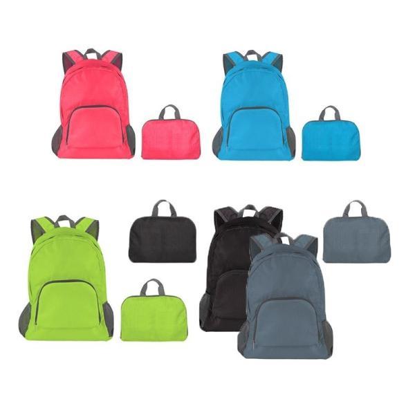 折りたたみリュックバックパックリュックサック折り畳みトラベルバッグコンパクトかばん旅行鞄携帯エコバックサブバック