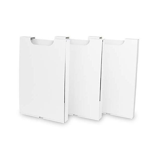 ゴミ袋収納箱(箱のみ)3個入り 白 5セット(ゴミ袋収納隙間収納縦置き45l45リットル45?キッチン収納