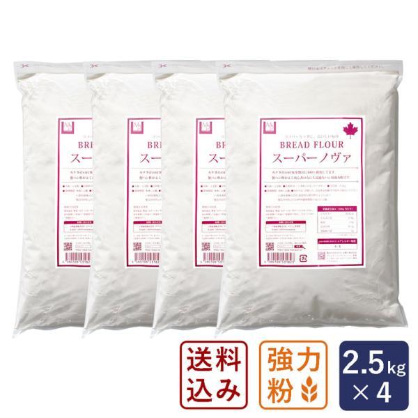 【送料無料】強力粉 スーパーノヴァ(1CW) パン用小麦粉 2.5kg×4 (10kg)【沖縄県は別途追加送料必要】