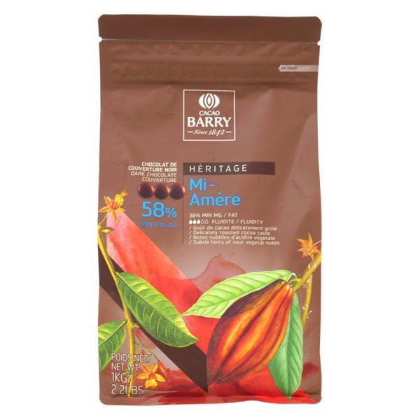 チョコレート ピストール ミ・アメール カカオ58% カカオバリー 1kg クーベルチュール