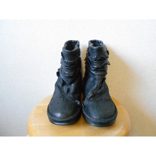 センソユニコ SENSO UNICO tb 本革 レディース 用 ショート ブーツ 黒 22.5cm
