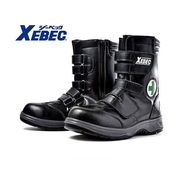 安全靴 ジーベック XEBEC 85105 セフティシューズ 先芯あり メンズ 男性用 作業靴 ロングブーツ ハイカット マジックテープ