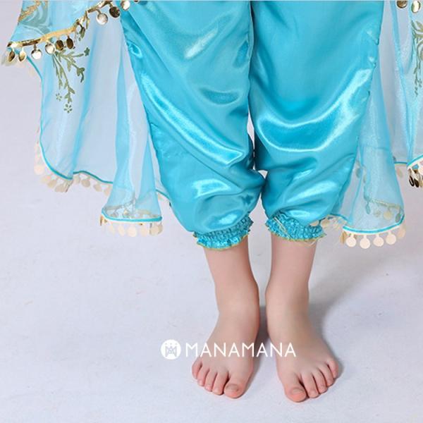 ディズニー プリンセス ドレス キッズ ジャスミン アラジン 子供 子ども コスプレ なりきり 衣装 子供 仮装 コスチューム お姫様  リゾート 女児 女の子  誕生日|mana2|05