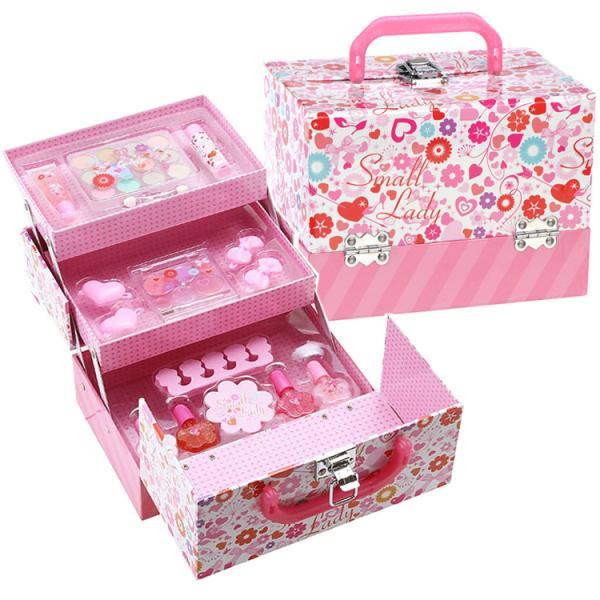 スモールレディ バニティ メイク ボックス レイス クリスマスプレゼント女の子 小学生 キッズ コスメ メイクセット 子供用 おもちゃ 誕生日 6歳 7歳 8歳 9歳 mana2