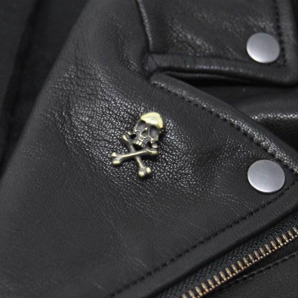 kaus カウス  ハットピン captain skull L アンティーク仕上げ