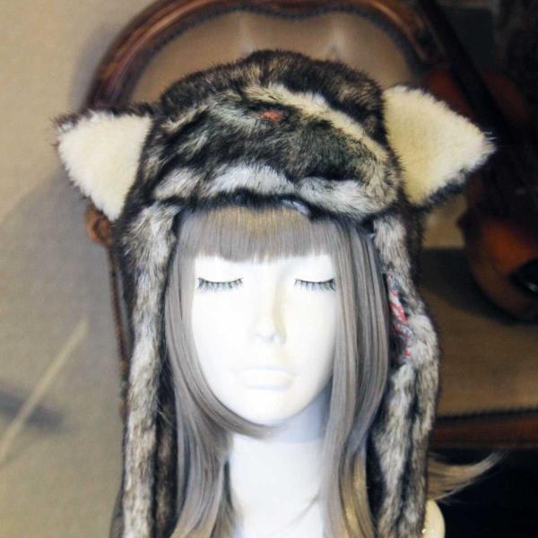 バラ色の帽子 Barairo no Boushi ヤマネコフード アイボリー