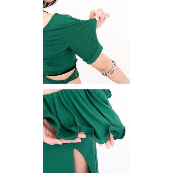 ベリーダンス 衣装 セット アリュールスタイル 2点セット ( 全3色 ) | ベリーダンス 衣装 セット スカート レッスン着 レッスン トップス レ|manasmana|09