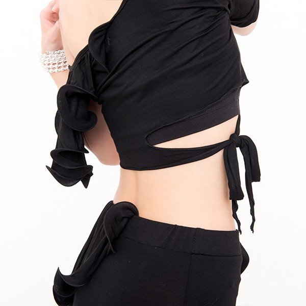 ベリーダンス 衣装 セット アリュールスタイル 2点セット ( 全3色 ) | ベリーダンス 衣装 セット スカート レッスン着 レッスン トップス レ|manasmana|10