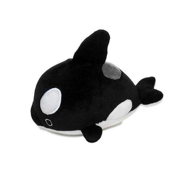 シャチのぬいぐるみ もちもち マシュマロ クッション ふわふわ 癒しグッズ A-SHOW まったりくん オルカS 19cm|manbouya|02