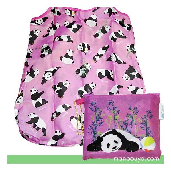 パンダ 雑貨 エコバッグ おしゃれ 折り畳み ショッピングバッグ かなる パンダ【ゆうパケット発送可】