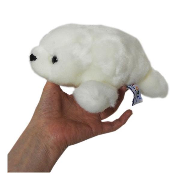 アザラシ ぬいぐるみ キュート販売 CUTE marine collection 水族館グッズ ベビーあざらしオフホワイト Sサイズ22cm manbouya 03