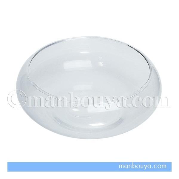 ガラス鉢 ベース ガラス細工ディスプレイ テラリウム センターピースM 直径15cm