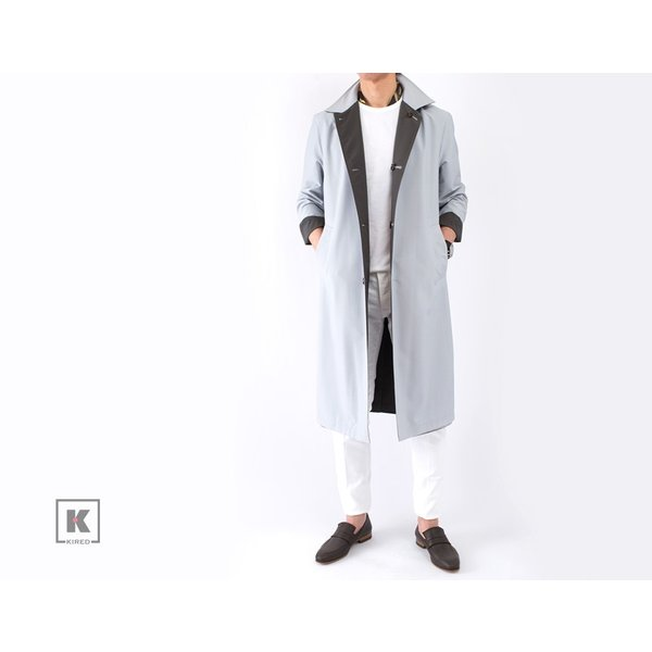 KIRED 【キーレッド】 リバーシブル スプリングコート - ロロ・ピアーナ レインシステム - ・mod. BEN GL ・col. クラウドグレー×グレイッシュブラウン|mandm-website|11